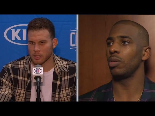 Chris Paul Blake Griffin Postgame Interview Rockets vs Clippers Jan 15 2017 18 NBA Season