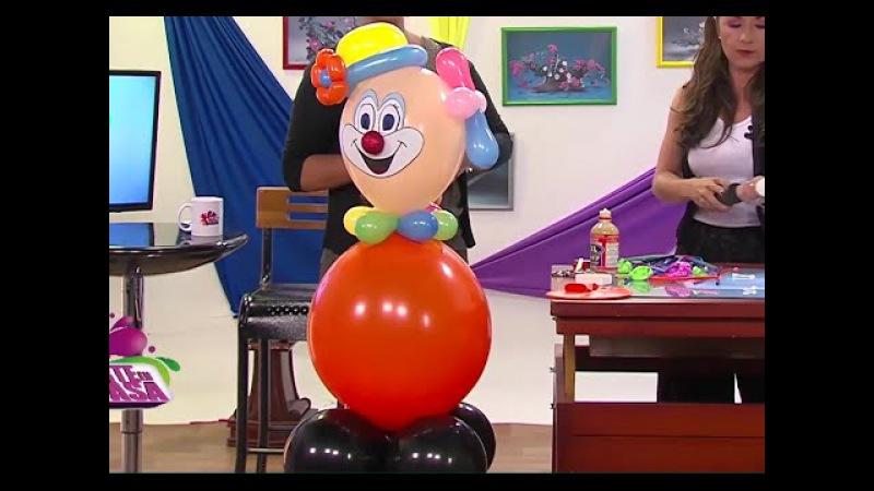 Globoflexia - Como hacer un Payaso con Globos para una Fiesta- Hogar Tv por Juan Gonzalo Angel
