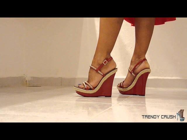 High Heels Wedge 021v T14 Black Enamel 001