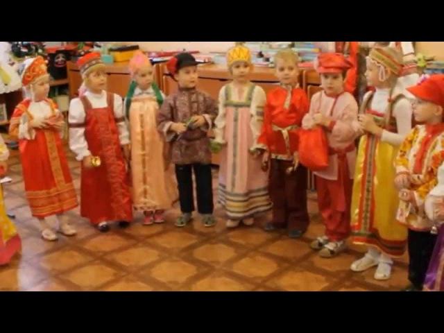 Колядки старшая группа Сказка детский сад № 156 г. Владивосток 2015
