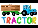THE BLUE TRACTOR IN THE FIELDS Nursery rhymes and kids songs