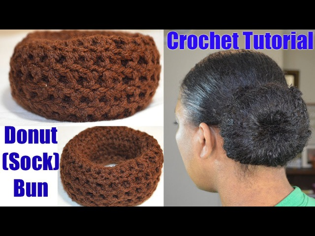 Crochet Tutorial - Donut Sock Bun Maker Simple Quick Crochet Project » Freewka.com - Смотреть онлайн в хорощем качестве