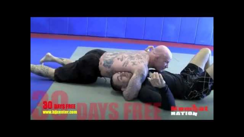 Cross side; North South choke by Jeff Monson and Vagner Rocha