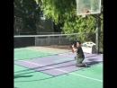 игра Ломаченко в большой теннис сам с собой