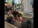 Деррик Ким - тяга 310 кг (75 кг)
