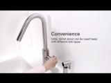 Краткий видео-обзор смесителя для кухни с душем Justime STILL ONE IV