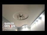 Многоуровневый натяжной потолок Saros Design за два дня г. Подпорожье ул. Пионерская д.3 ТЦ «ЛЮКС» Второй этаж, офис №3