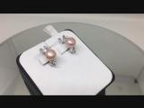 Серьги серебро 925 пробы с жемчугом