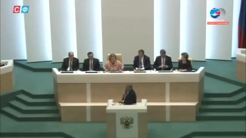 Выступление Михаила Ковальчука на Совете Федерации. Элита выводит популяцию службного человека.