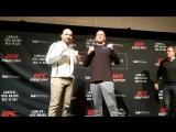 #UFCWinnipeg Misha Cirkunov vs. Glover Teixeira media day face off.