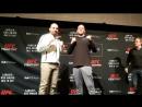 UFCWinnipeg Misha Cirkunov vs. Glover Teixeira media day face off.