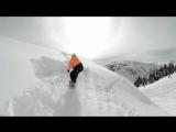 Захватывающие трюки сноубордистов