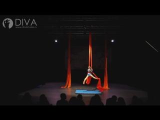 Детская воздушная гимнастика на полотнах (цирковые полотна), ученица студии Варвара, хореограф Мария Мишина