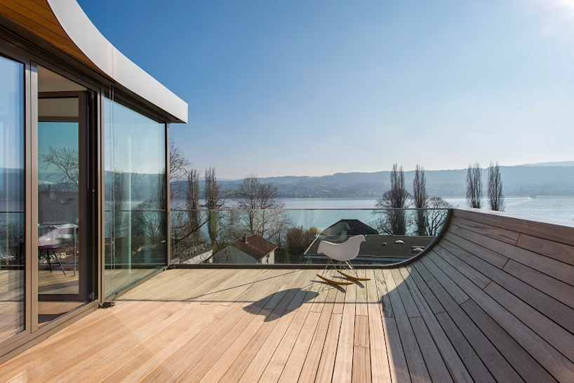 evolution design models zurich lakehouse with ribbon façade