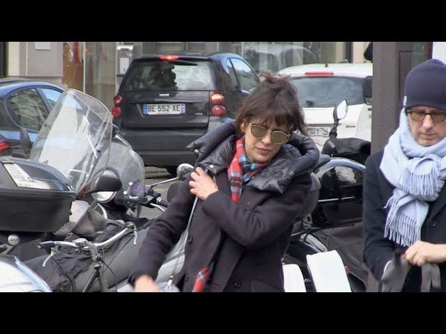 EXCLUSIVE Sophie Marceau on her way to RTL radio station in Paris