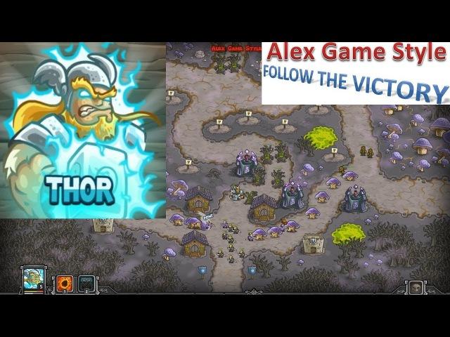 Kingdom Rush HD (Bonus Premium Level 24 Fungal Forest) Iron Challenge || Hero - Thor