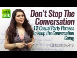 Casual Party Conversation Phrases to Speak fluent &amp Confident English Free English Lessons