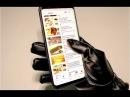 Сенсорные Теплые кожаные мужские перчатки для мобильного телефона зимой