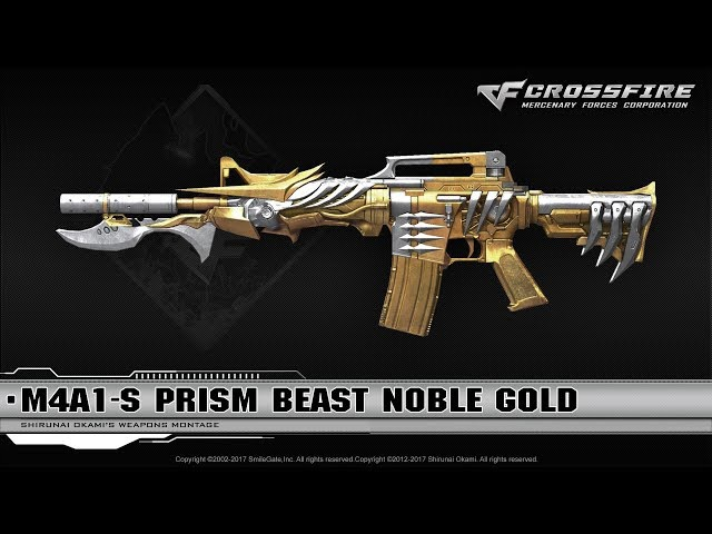 CrossFire China 2.0 : M4A1-S Prism Beast Noble Gold ☆