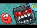 Несносный КРАСНЫЙ ШАР против чёрного квадрата 10 Подземные ходы Мультик Red Ball 4