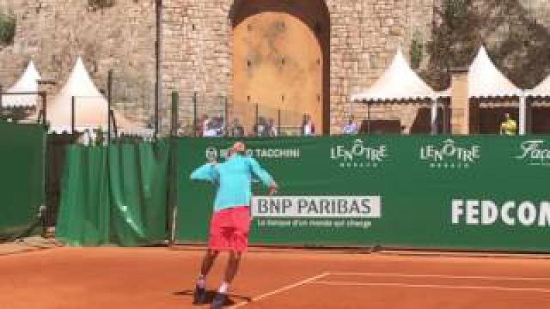 Dominic Thiem Serve - Monte Carlo 2017 ( slow motion) HD