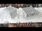 DIY DOLLAR TREE BLING DECOR BOXES