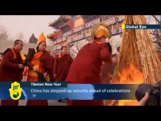 Tibetan Monks Exorcise Ghosts before Tibet's 15 Days of New Year Celebrations for Losar