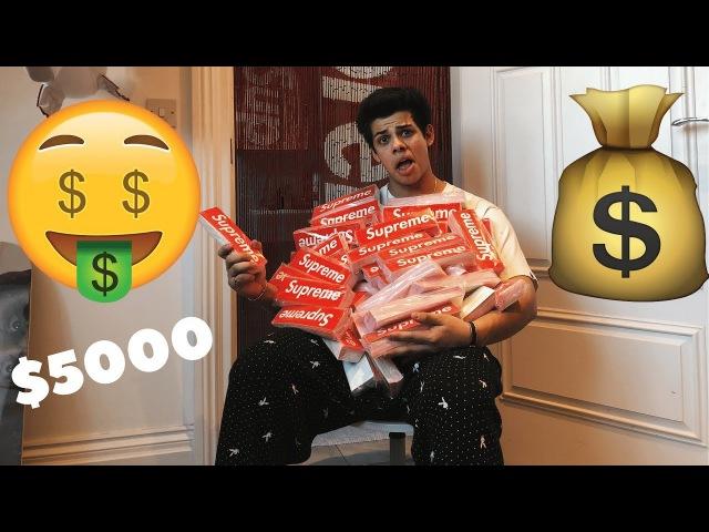 Spent Nearly $5000 on Supreme Stickers (6000 BOGO'S!) Ari Petrou