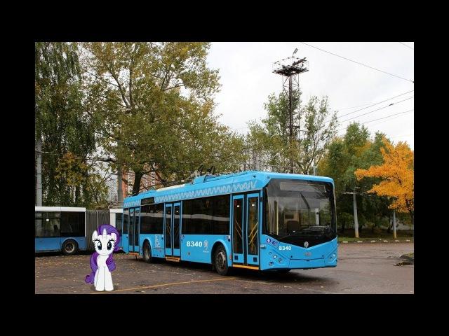 Поездка на троллейбусе БКМ 321 2016 № 8340 Маршрут № 8 Москва