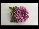 Объемный цветок Канзаши / На универсальной основе / Из узкой ленты