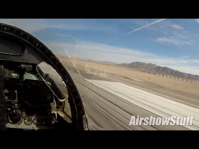 F-4 Phantom Cockpit Cam - Takeoff and Flybys - Nellis AFB 2016