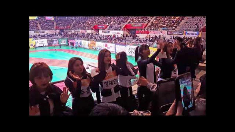 180115 아이돌 육상 선수권 대회 - 다이아(DIA) 팬석 깜짝 방문