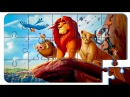 Puzzle Video For Kids The Lion King. Puzzle cartoon with colored cars.