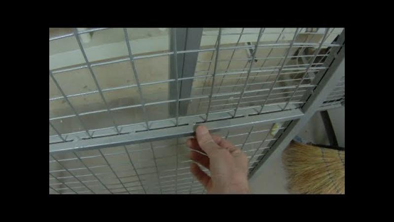Как закрепить вставить стальную сетку в рамку из профтрубы Способ на любителя