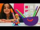 Barbie Chelsea için yeni kalemlik yapıyoruz! Eğitici kız çocuk videoları. Barbieoyunları izle!