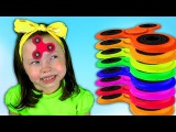 Bad Baby Magic Fidget Spinner Learn colors with Baby Songs Johny Johny Yes Papa Nursery Rhymes kids