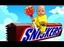 BAD BABY Born Doll Steals Chips and Candy Johny Johny Yes Papa Nursery Rhymes Songs for kids toys