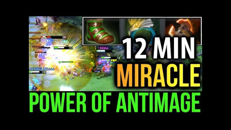 Crazy Farm Speed RIP Mana Void! Miracle- AntiMage Morphling Dota2