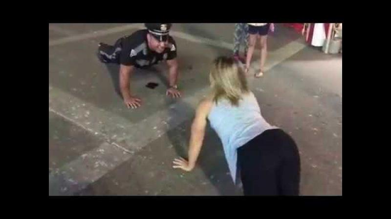 Polise meydan okuyan kadın