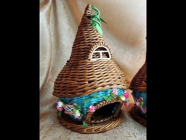 Плетение из газет - Чайный домик