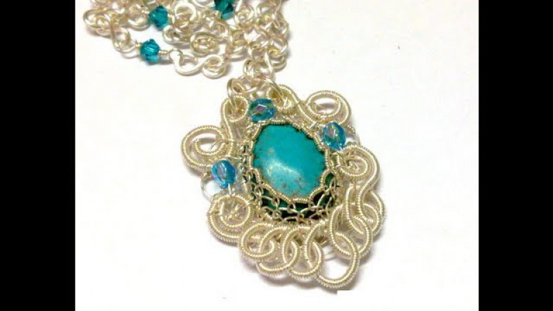 Turquoise Filigree Pendant Wire Jewelry Making Tutorial Preview