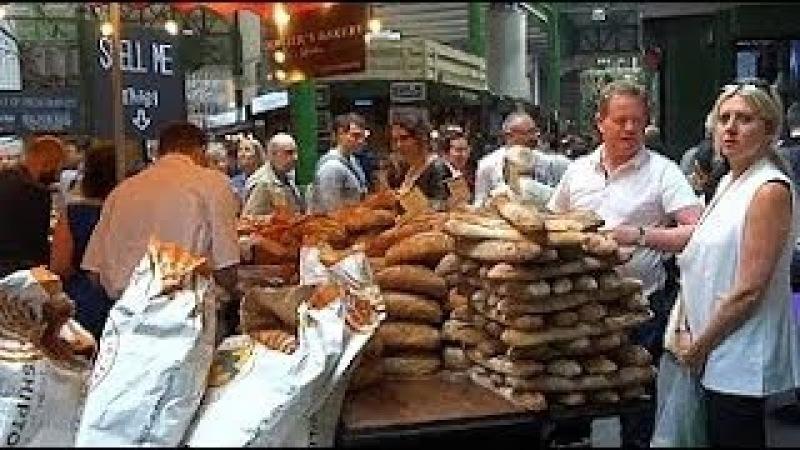 Лондон Уличная Еда , Продуктовый Рынок Боро.