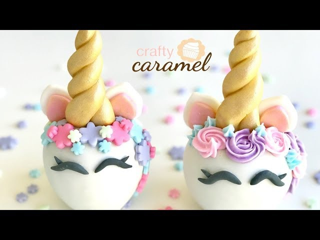 Manzana Unicornio / Unicorn Apples / 2 tipos de decoraciones | Crafty Caramel