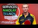 SlowMotion serves of Telnoy Nikolay / подачи Николая Тельного, техника подач