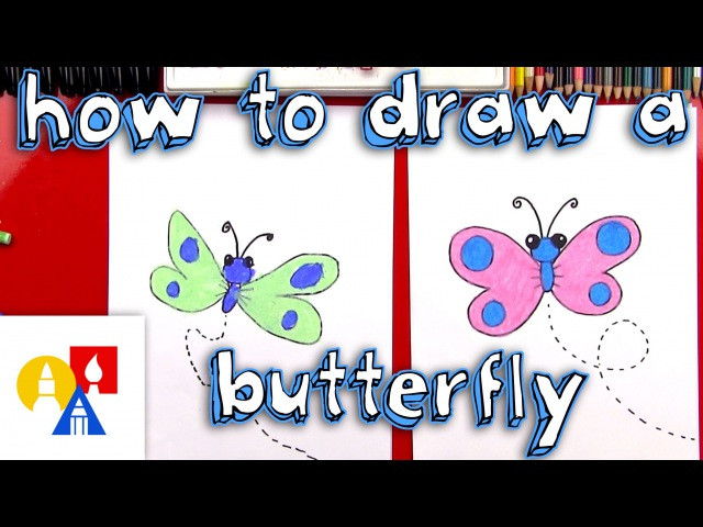 How To Draw A Cartoon Butterfly SYA!