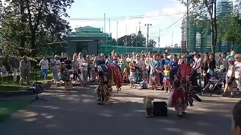 Выступление индейцев в Москве!