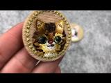 JOD круг мультфильм детская одежда DIY патч Вышивка Наклейки Аппликация утюг на Нашивки для Костюмы декоративные Значки Cat