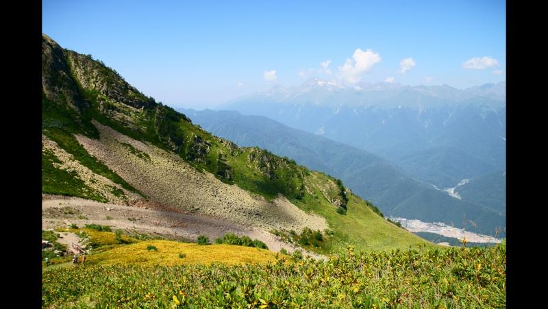 Альпийские луга хребта Аибга. Водопад Медвежий