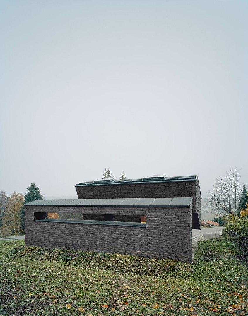 Загородный деревянный дом в стиле минимализма в Германии #частныйдом#Германия#архитектура#дизайн#