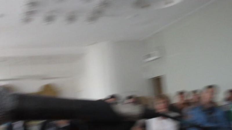 MVI_7953 на семинаре педагогов-воспитателей ДОУ г. Омска в ТЮЗе выступает актриса Галина Ксеневич